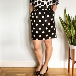 Ann Taylor Silk Polka Dot Skirt